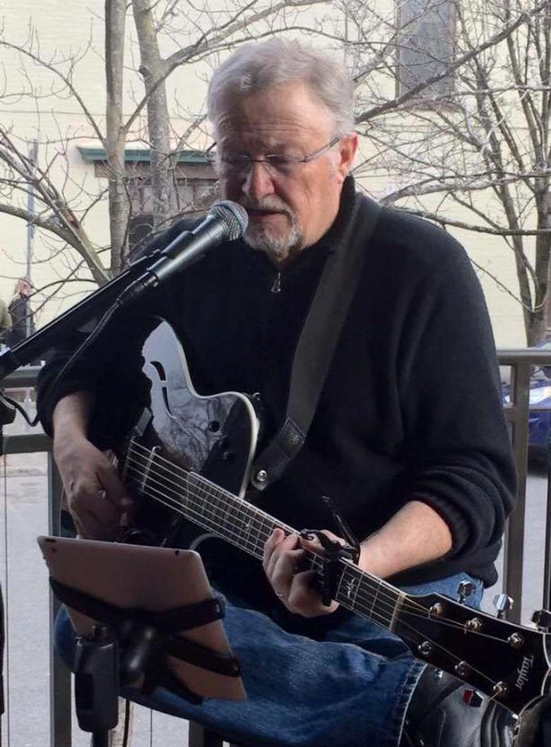 musician performing outside