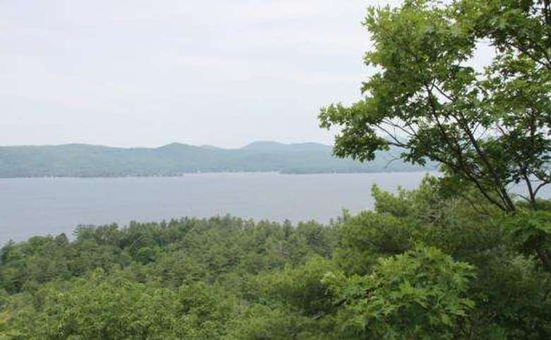 view of lake george from stewart's ledge