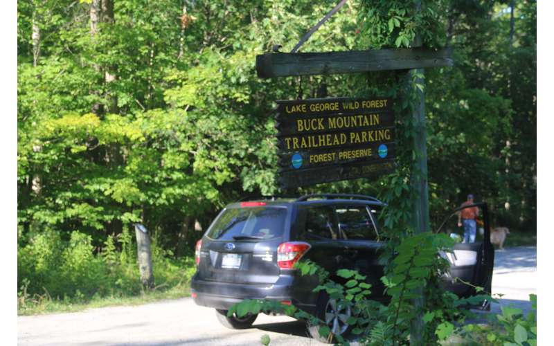 When you drive in, you will see the Buck Mountain Trailhead sign