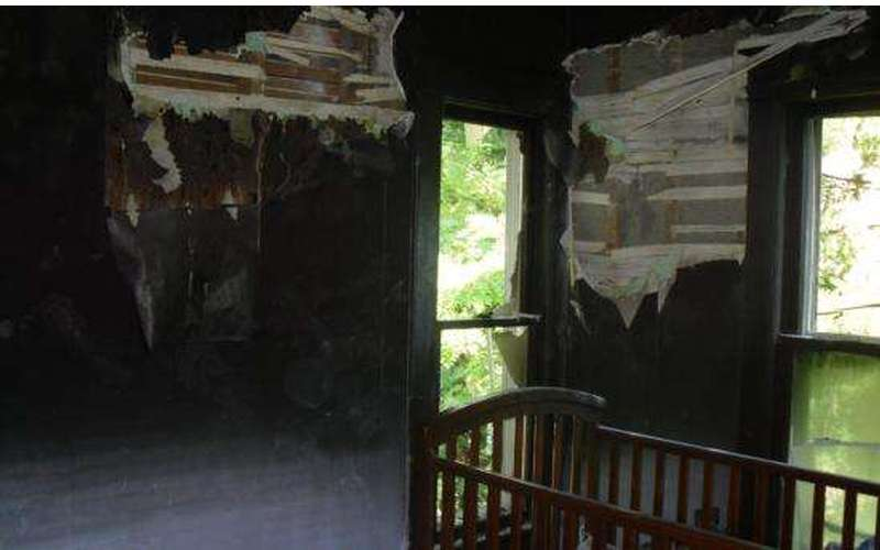A before picture of a fire damage to a child's room.