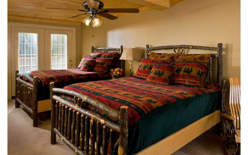 two beds in a bedroom