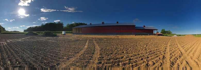 panorama photo of farm