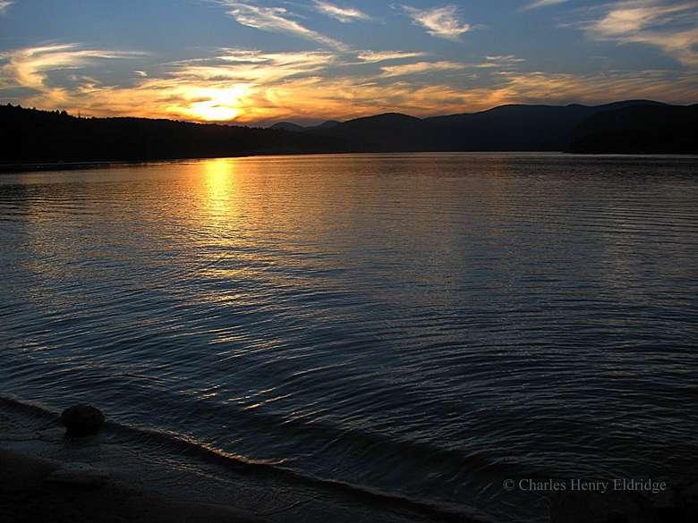 Sunset over the Sacandaga