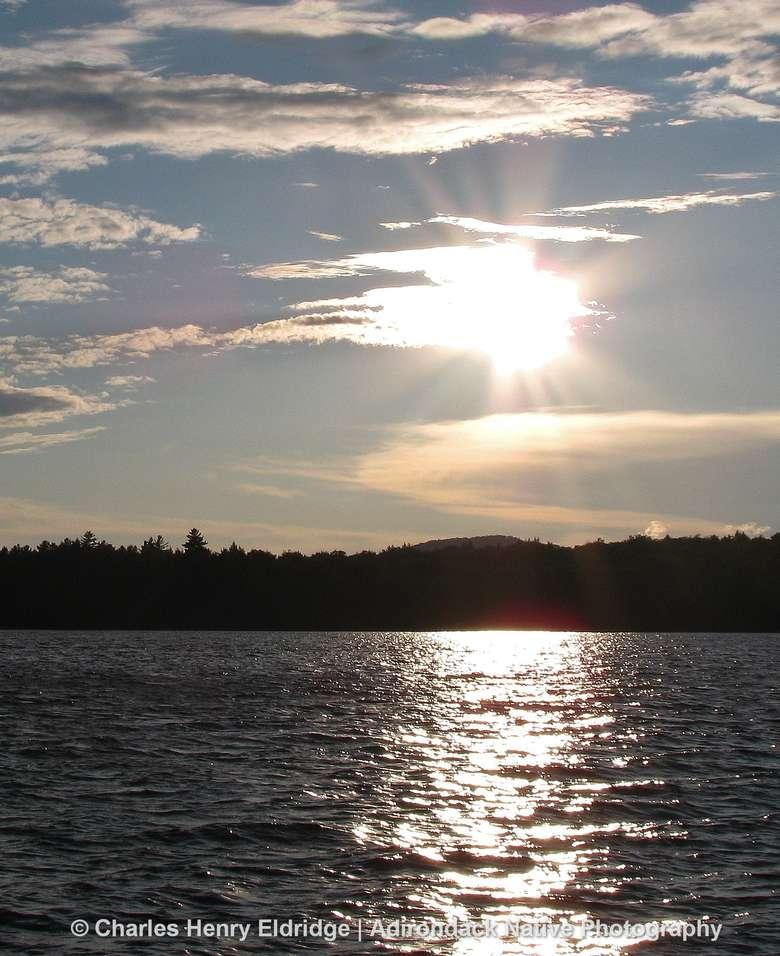 Sunsetting over raquette Lake