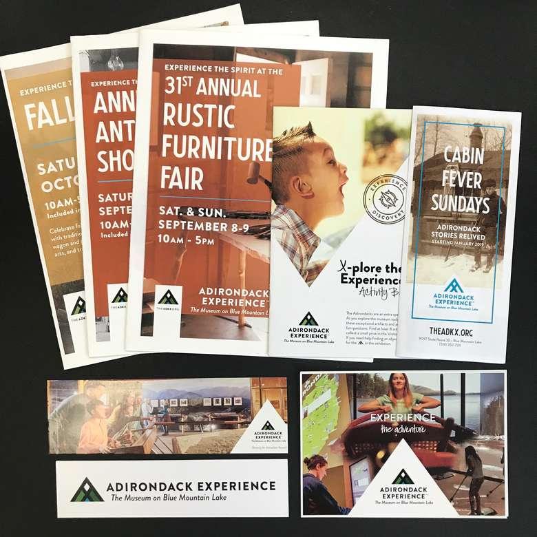 Adirondack Experience printed materials