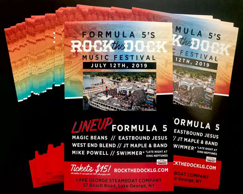 Rock the Dock printed posters