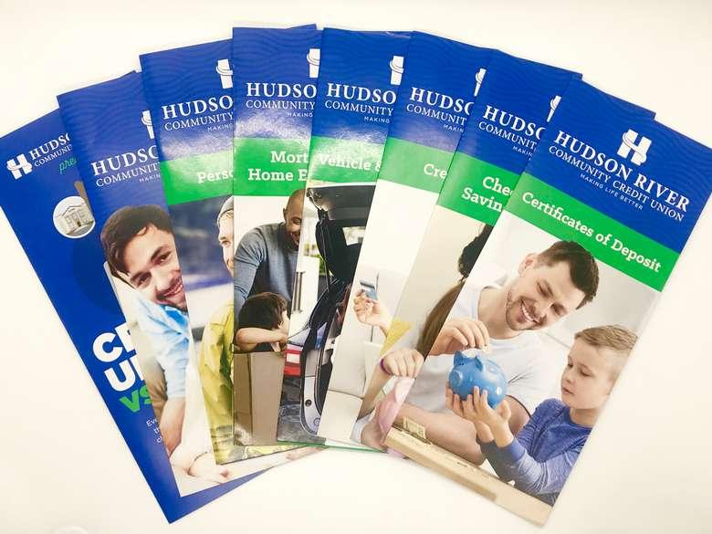 Hudson River Community Credit Union brochures