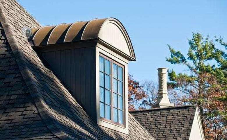 dormer window with a rounded roof