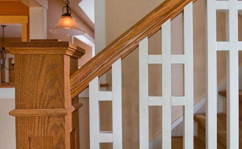 unique carpentry on a home's stair rail