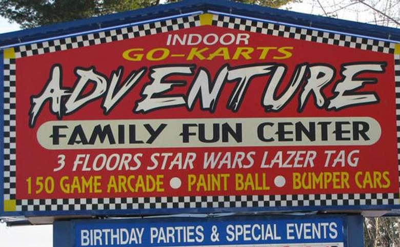 adventure family fun center sign