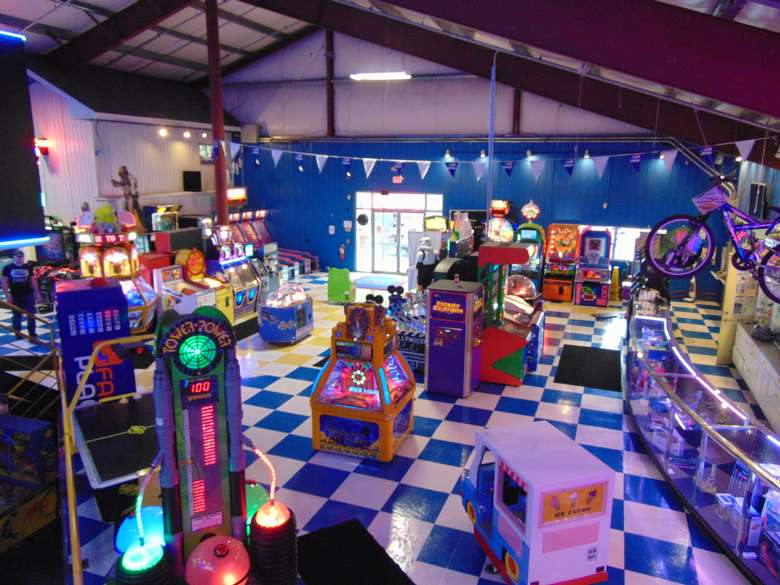 view of the arcade at adventure family fun center