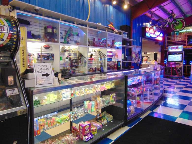 arcade game prize counter