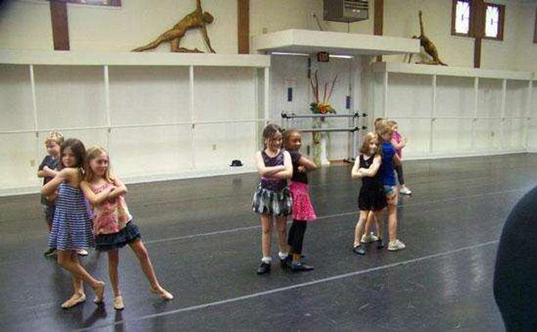 group of kids participating in a dance class