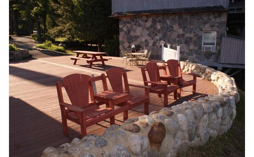 Adirondack Chairs on the patio