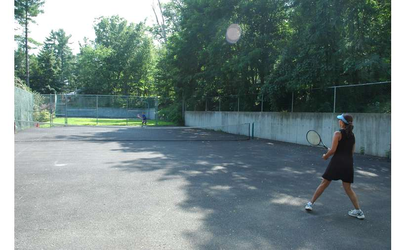 Tennis courts at the resort