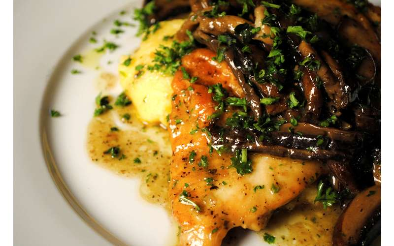 The Hollow Marsala with Sauteed Chicken (Also available with Veggie Protein Filet or Sauteed Shrimp)