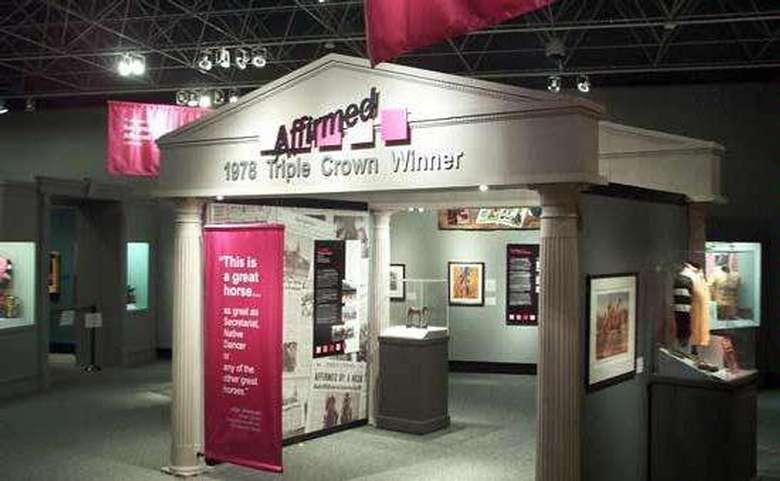 museum exhibit about triple crown winner affirmed