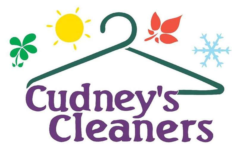 the logo for cudney's cleaners
