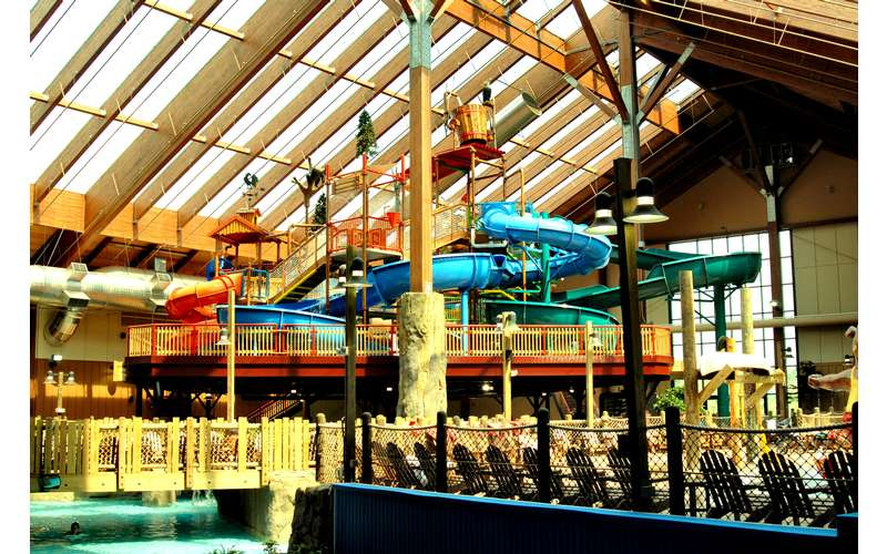 View of Whitewater Baby Indoor Waterpark