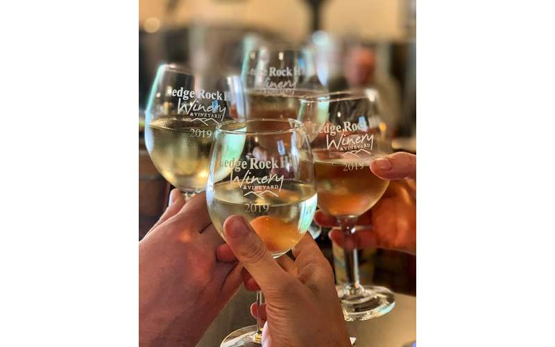 Cheers at Ledge Rock Hill Winery