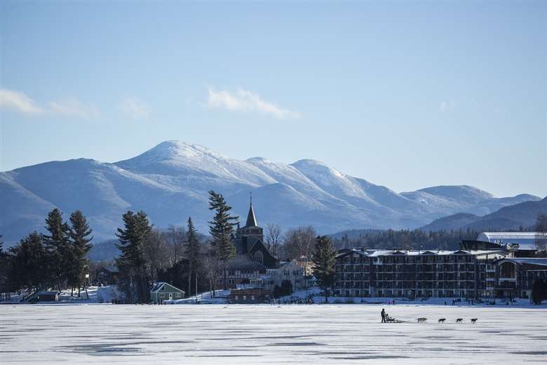 Winter Views of the Golden Arrow and mountains