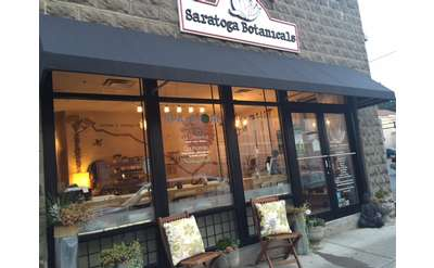 the outside of Saratoga Botanicals