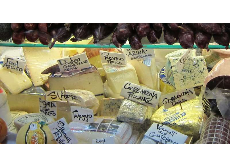 a variety of cheese