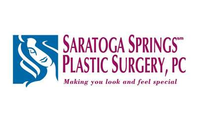 the logo for saratoga springs plastic surgery, pc