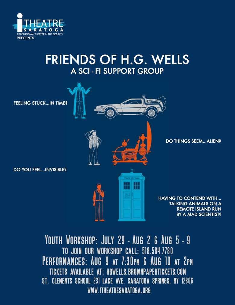 poster advertising friends of h.g. wells a sci fi support group