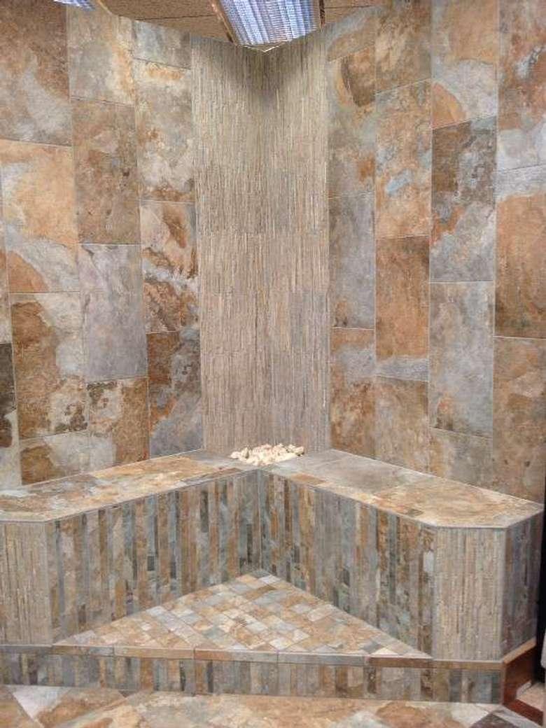 a decorative tiled nook