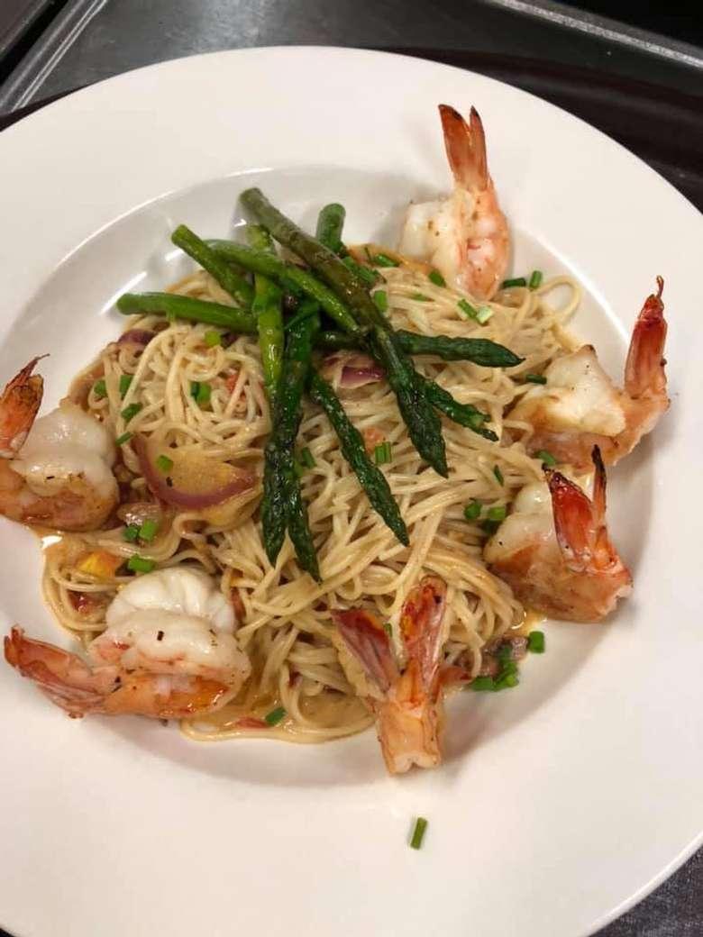 shrimp and pasta dinner