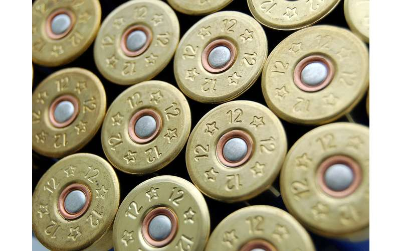 close up of bullets