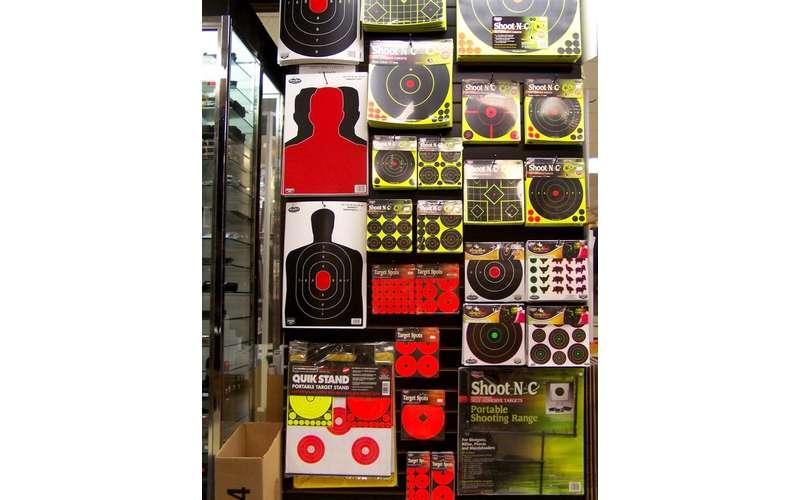 gun related supplies on a wall