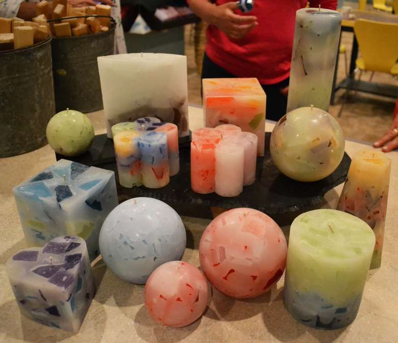 homemade candles in different shapes and sizes