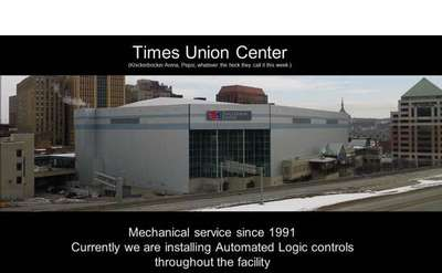 the times union center with words around the image