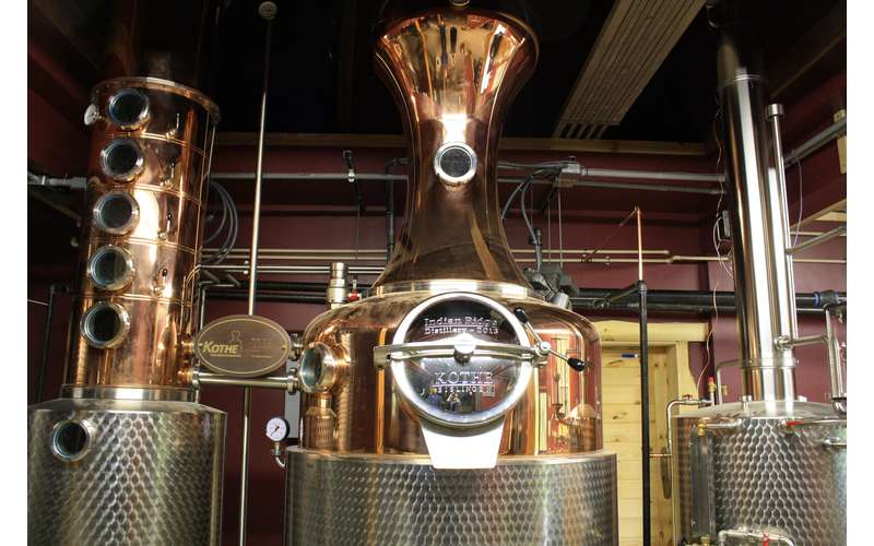a custom made copper pot still