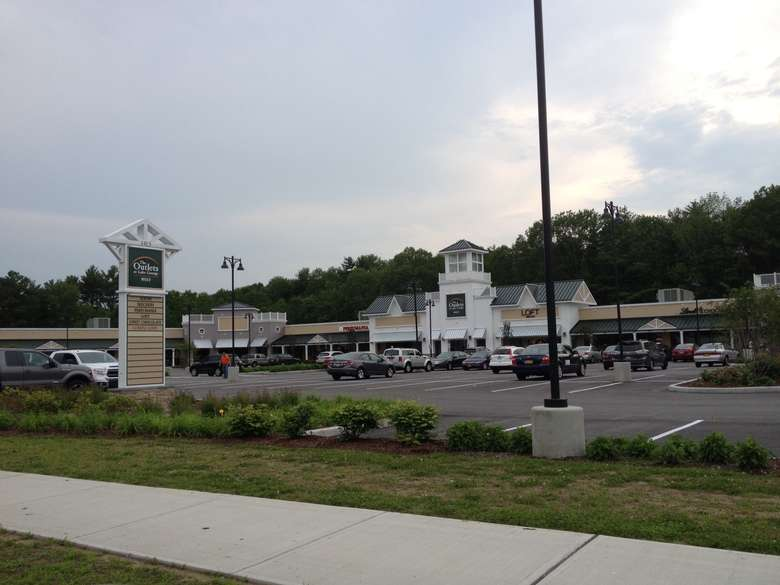 view of the outlets at lake george from route 9