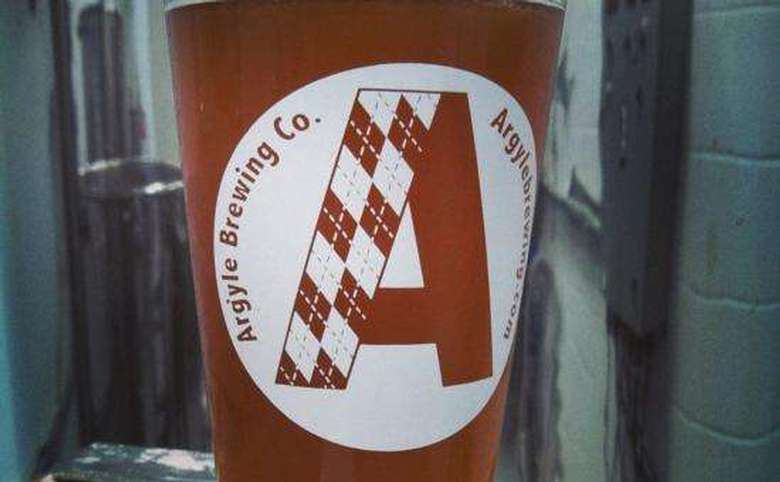 pint of argyle brewing company beer