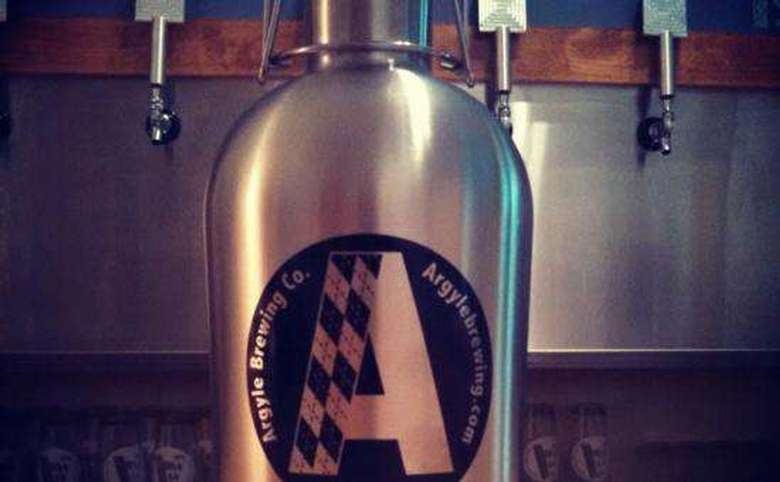 stainless steel argyle brewing company growler