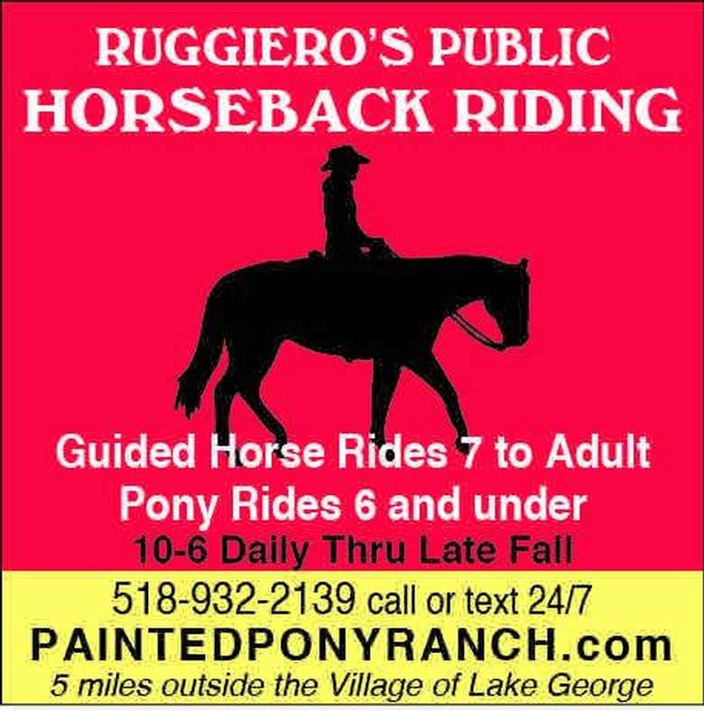 public horseback riding poster