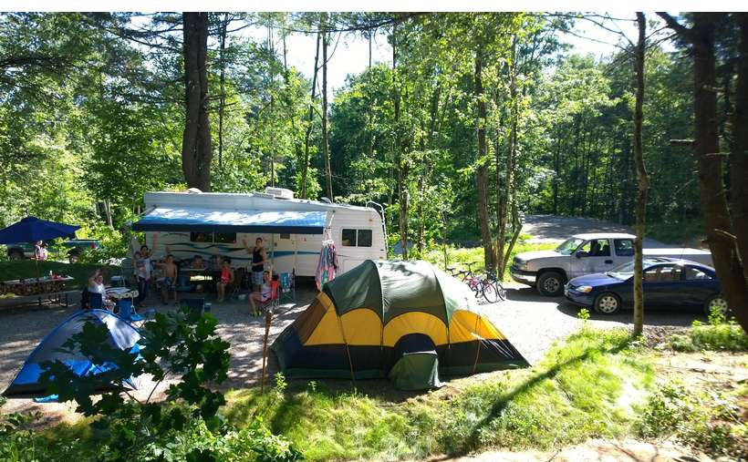 Lake George Area Camping Resort With Heating Swimming Pool Picnic Tables Large Pavilion And