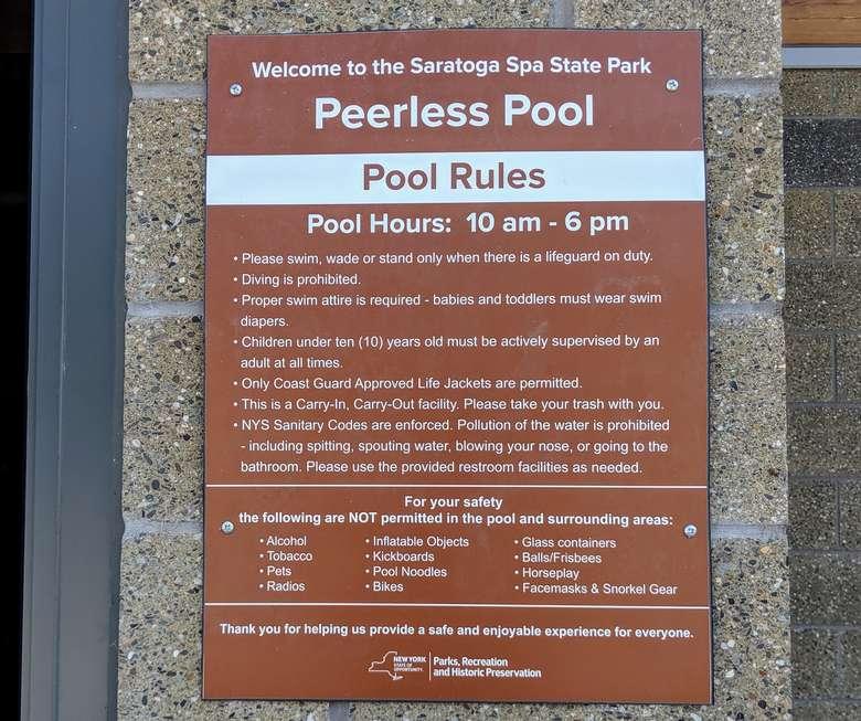 peerless pool rules