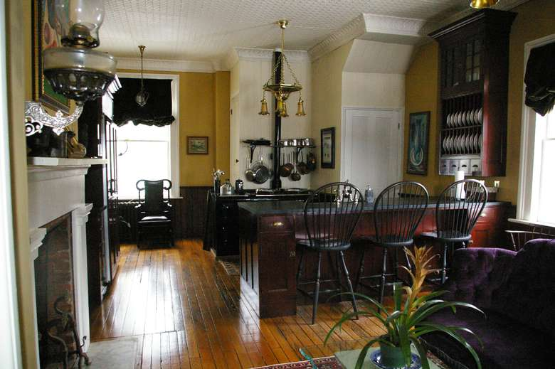 kitchen area in a bed and breakfast