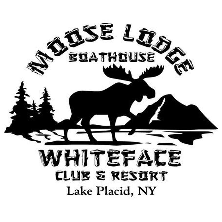 the logo for the moose lodge boathouse restaurant