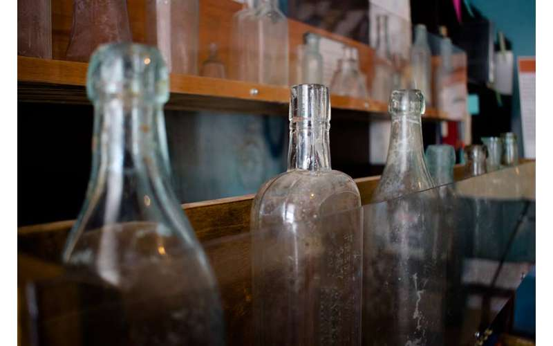 bottles found in archaeological dig