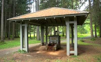 pavilion protecting karista spring