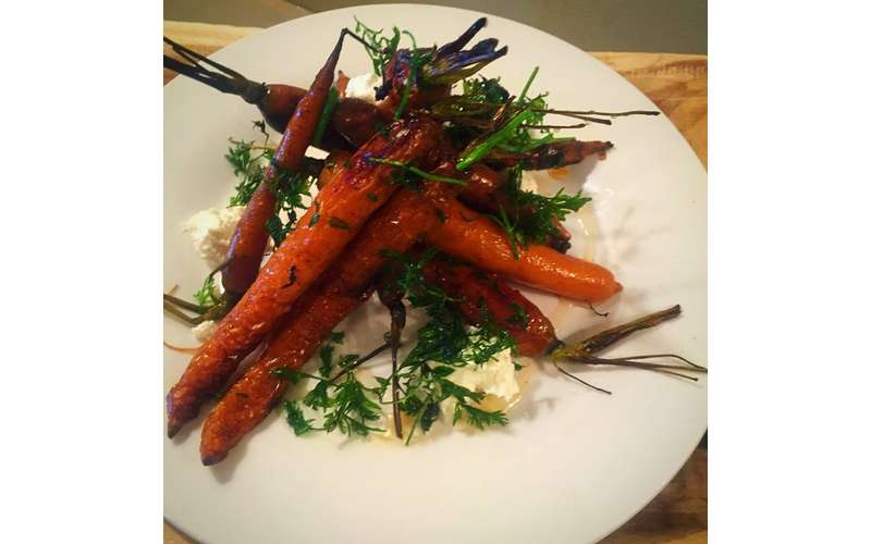 carrots with cilantro on a plate