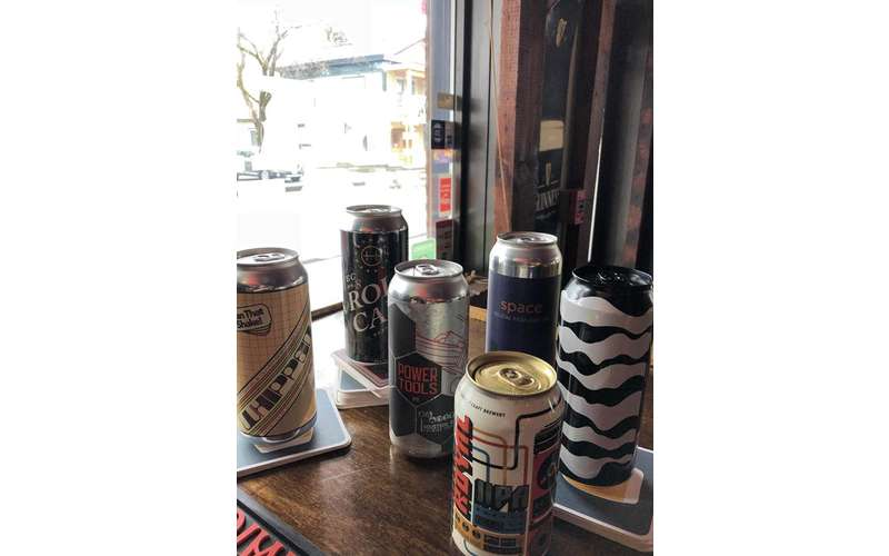several beer cans