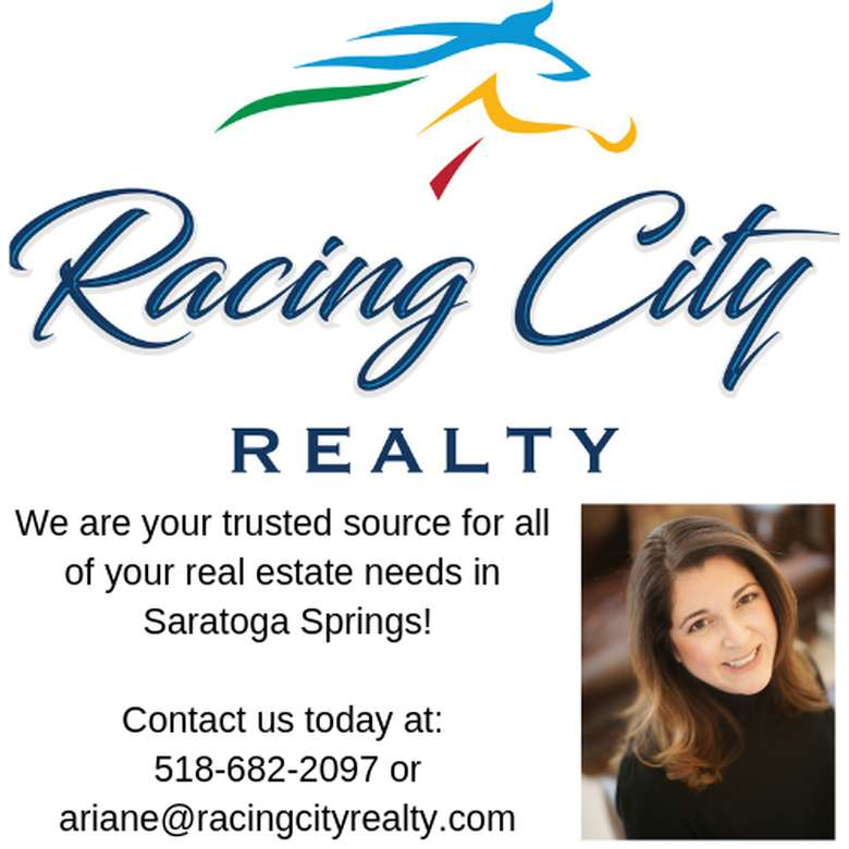 racing city realty banner with a realtor's headshot