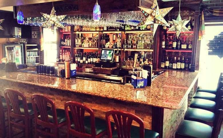 Bar at El Mariachi restaurant